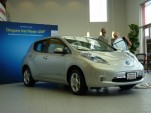 John Duncan takes delivery of one of the first 2011 Nissan LEAF EVs, near Portland OR, 12/15/2010