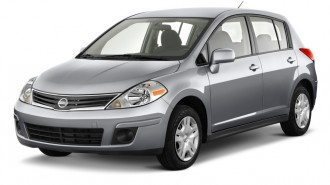 2011 Nissan Versa 5dr HB I4 Auto 1.8 S Angular Front Exterior View