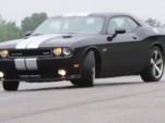 2012 Challenger SRT8 sideways in B-roll footage