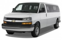 "2012 Chevrolet Express Passenger RWD 3500 155"" 1LS Angular Front Exterior View"