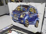 2012 Chevrolet Spark, as painted by British artist Ian Cook