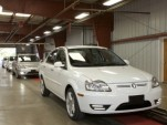 2012 Coda Sedans on assembly line, Benicia, California, March 2012