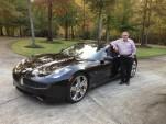 2012 Fisker Karma with owner Meurice Lefevre, Alpharetta, GA, Oct 2013