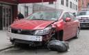 2012 Honda Civic Si sedan wrecked in New York City, April 2013