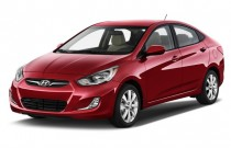 2012 Hyundai Accent 4-door Sedan Auto GLS Angular Front Exterior View