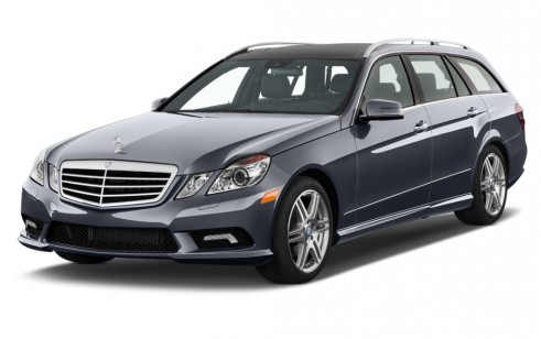 2012 Mercedes-Benz E Class 4-door Wagon Sport 3.5L 4MATIC Angular Front Exterior View