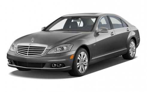 2012 Mercedes-Benz S Class 4-door Sedan 3.5L V6 Hybrid RWD Angular Front Exterior View