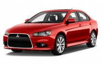 2012 Mitsubishi Lancer 4-door Sedan CVT GT FWD Angular Front Exterior View