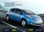 2012 Nissan Leaf electric car - net pricing shown on Nissan website