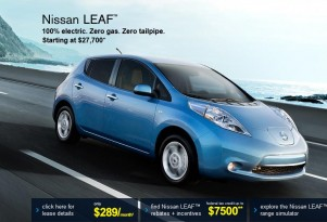 2012 Nissan Leaf Electric Cars Offered At Up To $5,000 Off