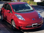 2012 Nissan Leaf SL electric car, owned by Shiva of Fremont, California, Oct 2017