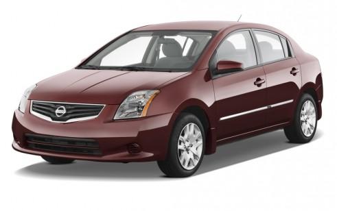 2012 Nissan Sentra 4-door Sedan I4 CVT 2.0 S Angular Front Exterior View