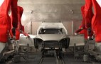 Watch The 2012 Tesla Model S Roll Down The Paint Line: Video