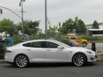 2012 Tesla Model S, brief test drive, New York City, July 2012