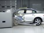 2012 Volvo S60 undergoing IIHS' new frontal crash test