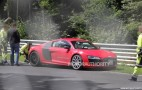 2013 Audi R8 e-tron Crashes Into Barrier At The Nürburgring