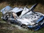 2013 BMW M5 crash on German autobahn