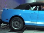 2013 Ford Mustang Shelby GT500 Convertible previewed in Ford's Detroit show stand