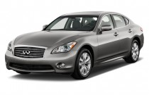 2013 Infiniti M56 4-door Sedan RWD Angular Front Exterior View