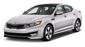 2013 Kia Optima Hybrid 4-door Sedan 2.4L Auto LX Angular Front Exterior View