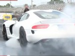 2013 SRT Viper at the drag strip