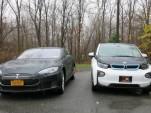 2013 Tesla Model S and 2014 BMW i3, Hudson Valley, NY, Nov 2014