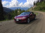 2013 Tesla Model S on Chilcotin Highway, Canada [photo: owner Vincent Argiro]