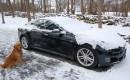 2013 Tesla Model S in winter, Hudson Valley, NY  [photo: David Noland]