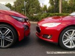 2014 BMW i3 and 2014 Tesla Model S   [photo: Tom Moloughney]