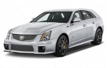 2014 Cadillac CTS-V 5dr Wagon Angular Front Exterior View