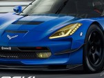 2014 Chevrolet Corvette C7.R race car rendering by Iacoski Design