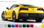 2014 Chevrolet Corvette Stingray Color Configurator Goes Online
