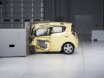 2013 Chevrolet Spark IIHS small-overlap frontal crash test.
