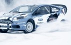 Ford Fiesta ST Rallycross Car Plays In The Snow: Video