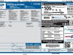 2014 Ford Focus Electric window sticker showing lower price