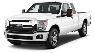 """2014 Ford Super Duty F-250 SRW 2WD SuperCab 142"""" Lariat Angular Front Exterior View"""