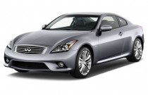 2014 Infiniti Q60 Coupe 2-door Sport 6MT RWD Angular Front Exterior View