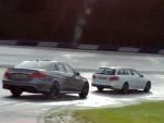 2014 Mercedes-Benz E63 AMG Sedan and Wagon at a track