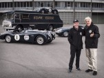 Ian Callum and Jay Leno at the 2014 Mille Miglia