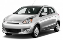 2014 Mitsubishi Mirage 4-door HB CVT ES Angular Front Exterior View