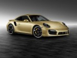 2014 Porsche 911 Turbo in Lime Gold Metallic paint