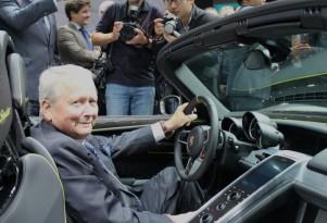 Dr. Wolfgang Porsche with Porsche 918 Spyder  -  Frankfurt Auto Show preview event