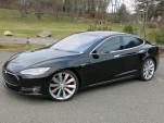 2014 Tesla Model S P85D, road test, Dec 2014  [photo: David Noland]