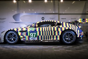 2015 Aston Martin Vantage GTE art car by Tobias Rahberger