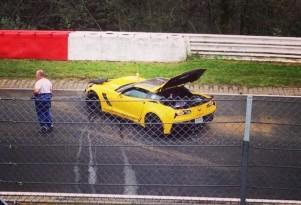 2015 Chevy Corvette Z06 crashed at the Nürburgring