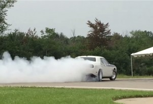 2015 Dodge Challenger Drag Pak Stalls, Launch, Nearly Loses It