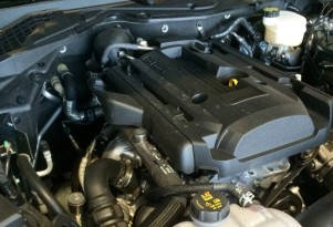 2015 Ford Mustang EcoBoost engine bay. Image via Reddit user noname87scr.