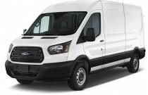 "2015 Ford Transit Cargo Van T-250 130"" Med Rf 9000 GVWR Sliding RH Dr Angular Front Exterior View"