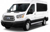 "2015 Ford Transit Wagon T-150 130"" Med Roof XLT Sliding RH Dr Angular Front Exterior View"