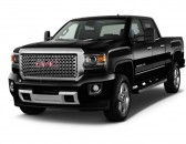 "2015 GMC Sierra 2500HD 2WD Crew Cab 153.7"" Denali Angular Front Exterior View"